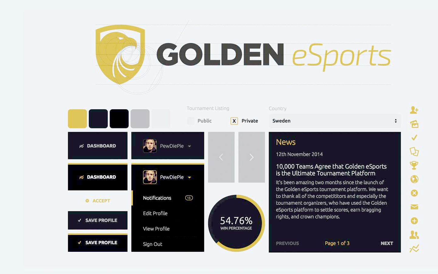 Golden eSports - Branding Kit