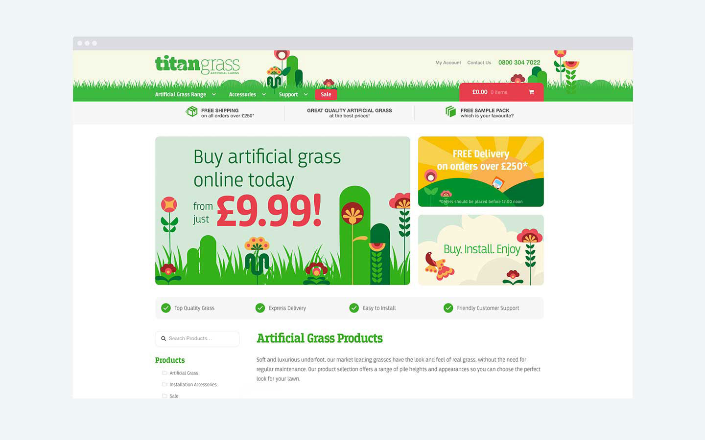 Titan Grass - Homepage Design