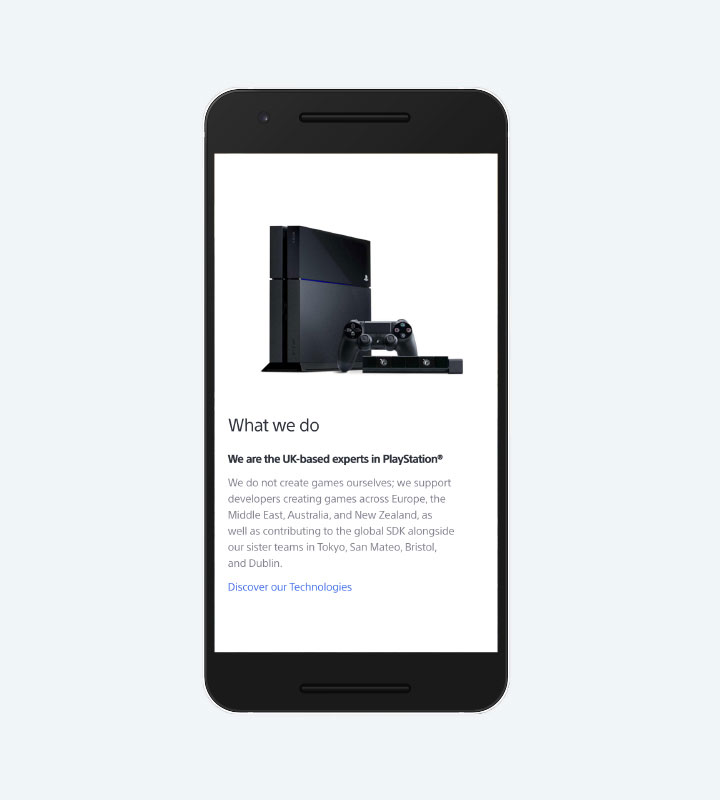 Sony R&D Mobile About
