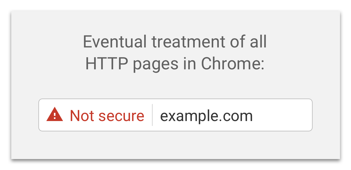 Chrome Not Secure Example