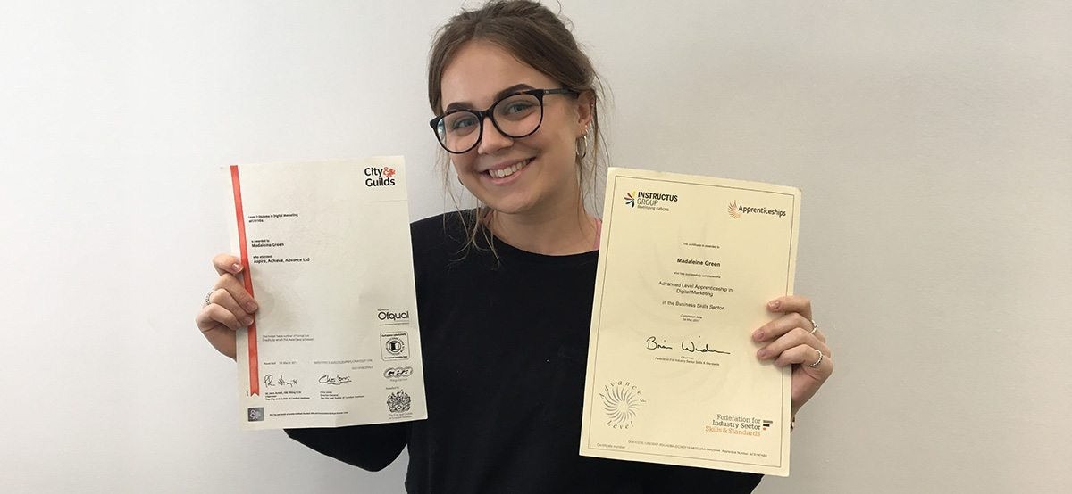 Maddie Green Level 4 Digital Marketing Certificates