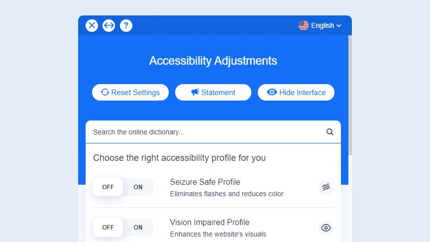 Accessibe Interface